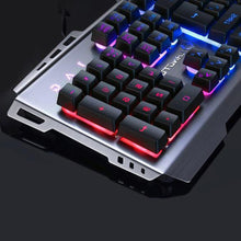 Load image into Gallery viewer, Wired Colorful Backlight Mechanical Feel Keyboard Water-resistant Gaming Suspension Keyboard (Black)