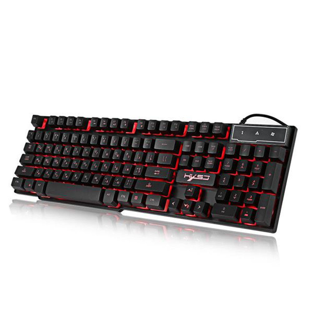 Wired Colorful Backlight Mechanical Feel Keyboard English Water-resistant Gaming Ergonomic Keyboard