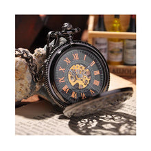 Load image into Gallery viewer, Black Cage Full Hunter Pocket Watch