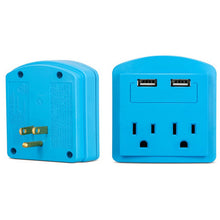 Load image into Gallery viewer, 2-Outlet USB Electric Wall Adapter