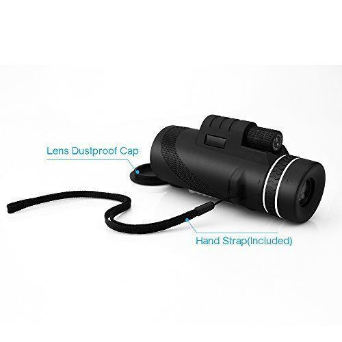 Zoomable 40x60 Monocular HD Optic Telescopes W/Clip Tripod Bird Watching