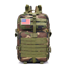 Load image into Gallery viewer, 40L Military Outdoor Tactical Backpack with Hook-and-loop Fastener Camouflage
