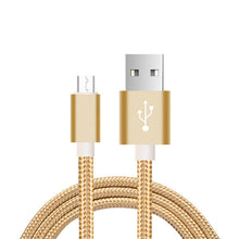 Load image into Gallery viewer, 3m Micro USB Nylon Braided USB Cable Cord Extra Long for Android (Gold)