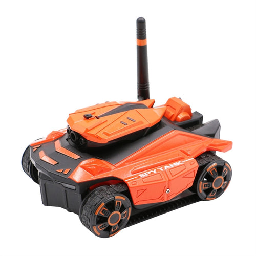Camera RC Car App Remote Control Tank High Definition Photos and videos Toy (Orange)