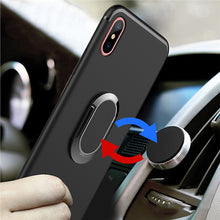 Load image into Gallery viewer, Phone Case with 360 Rotating Ring Holder Magnetic Car for iPhone X (Black)
