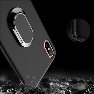 Phone Case with 360 Rotating Ring Holder Magnetic Car for iPhone X (Black)