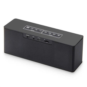 Multifunctional Digital Alarm Clock Radio with Wireless Bluetooth Stereo Speakers Support TF Card(Black)