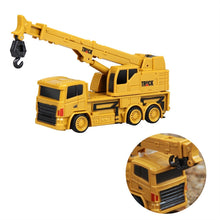 Load image into Gallery viewer, Mini RC Constructing Truck Engineering Vehicle Toys Educational (Crane Truck 1:64)