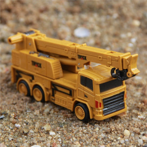 Mini RC Constructing Truck Engineering Vehicle Toys Educational (Crane Truck 1:64)