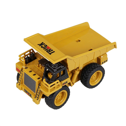 Mini RC Constructing Truck Engineering Toys for Kids Children (Dump Truck 1:64)