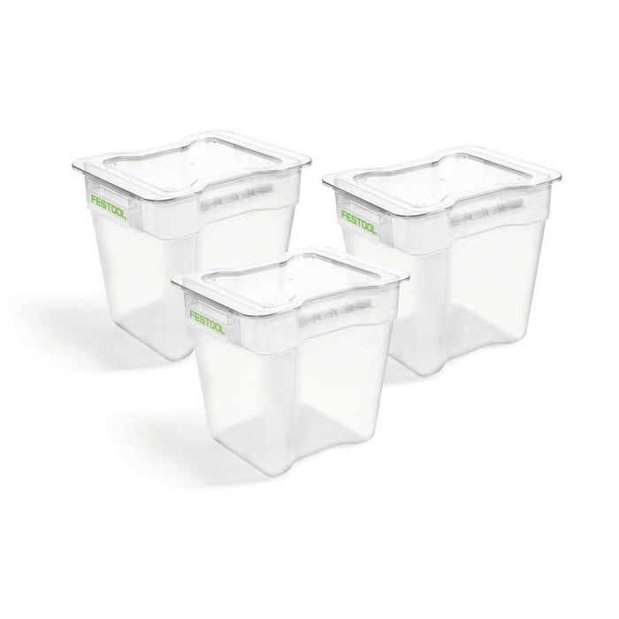 Festool 204295 CT Cyclone Pre-Separator Collection Container Bin, 3-Pack
