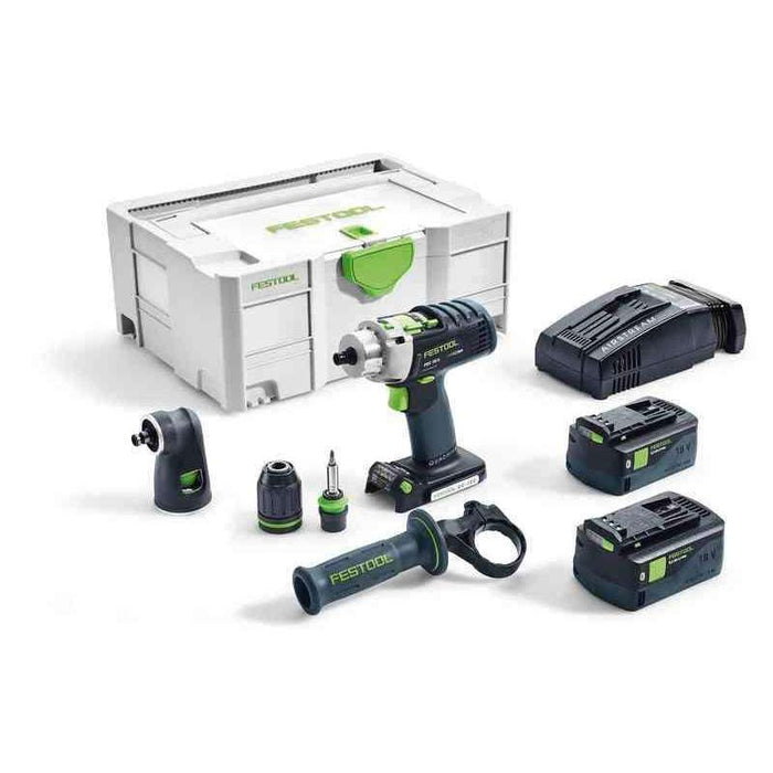 Festool PDC 18/4 Percussion Hammer Drill Driver Bluetooth 5.2Ah SET