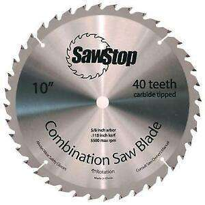 SawStop 40-Tooth Combination Table Saw Blade - Part Number CNS-07-148