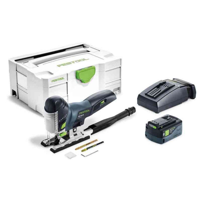 Festool Cordless PSC 420 EB Carvex AirStream Bluetooth 5.2Ah Jigsaw