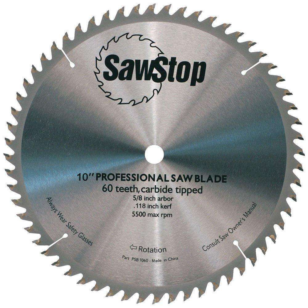 SawStop 60-Tooth Combination Table Saw Blade - Part Number CB104 184