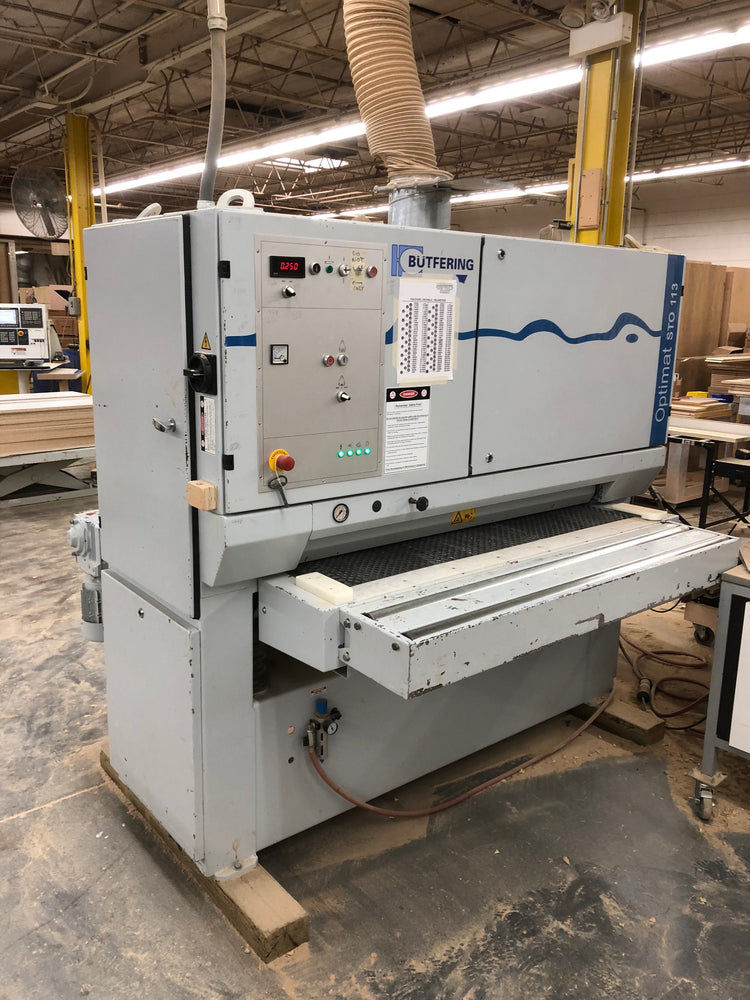 "SOLD, Used 2005 53"" Single Head Butfering Optimat 113 L Wide Belt Sander"