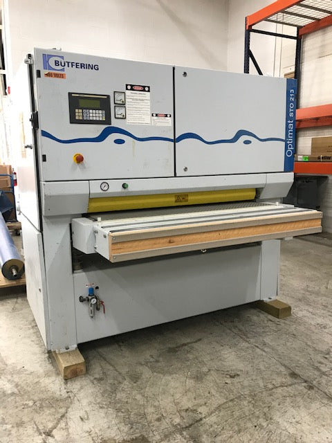 "Used 2003 53"" 2 Head Butfering Optimat 213 RC Wide Belt Sander"