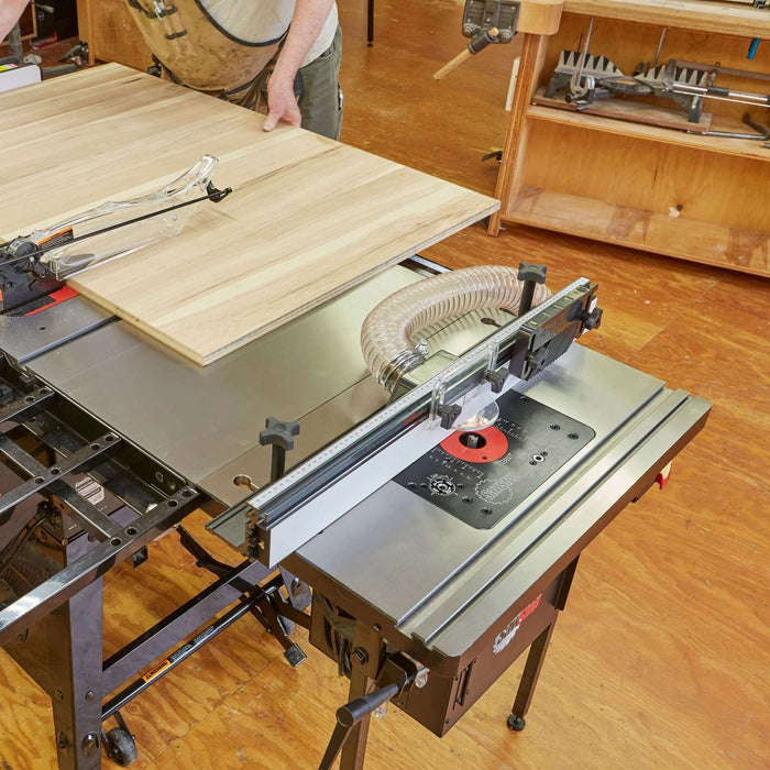 "SawStop 30"" In-Line Cast Iron Router Table for ICS - Part Number RT-TGI"