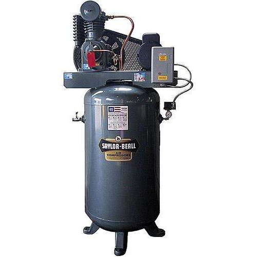Saylor Beall 5 HP Vertical Mounted Electric Air Compressor Includes Starter 230V, 3 Phase  (INCLUDES FREIGHT)