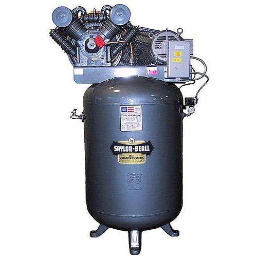 Saylor Beall 10 HP Vertical Mounted Electric Air Compressor Includes Starter 230V, 3 Phase (INCLUDES FREIGHT)