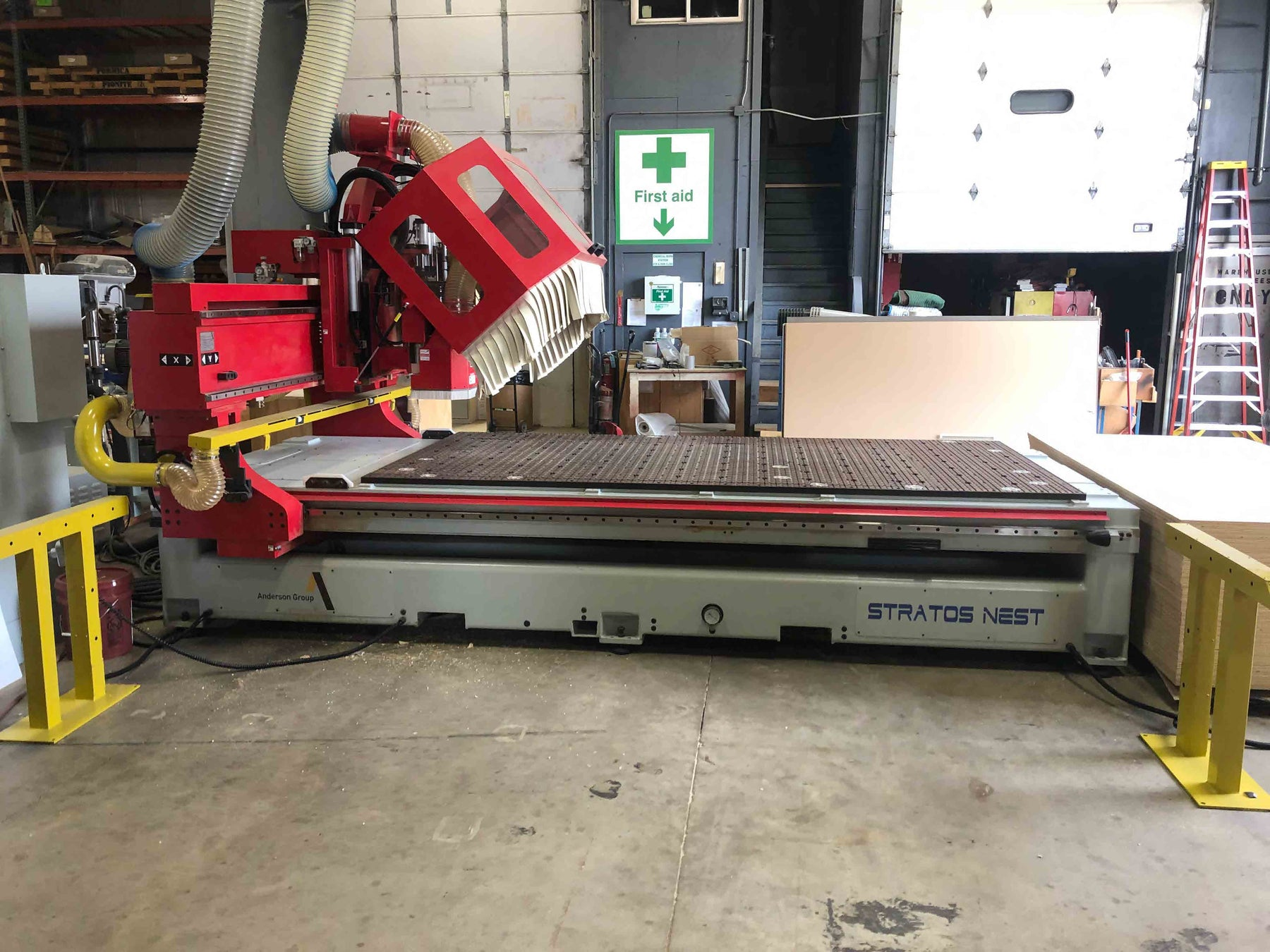 SOLD Used 2016 Anderson Stratos CNC Router TC+D, 5X10