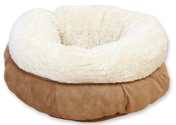 Lambswool Donut Bed - Tan