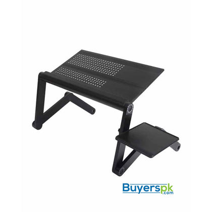 Aluminium Multi-Function Laptop Cooling Table With Fan - Black - Cooling Solutions