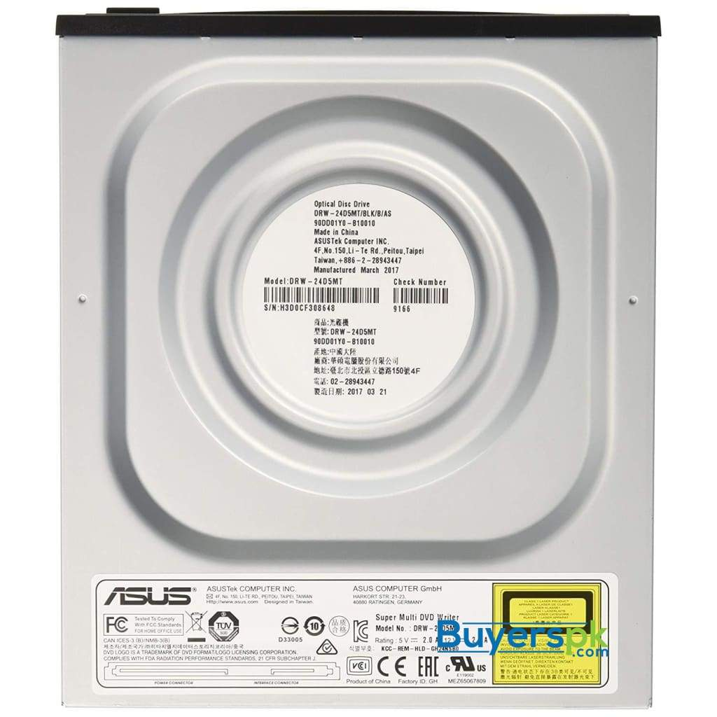 Asus Drw-24d5mt Internal Dvd Super Multi Dl Black Cd+/-rw, Dvd+/-rw, Dvd Dl, 4-24 X, 145 Ms Dvd