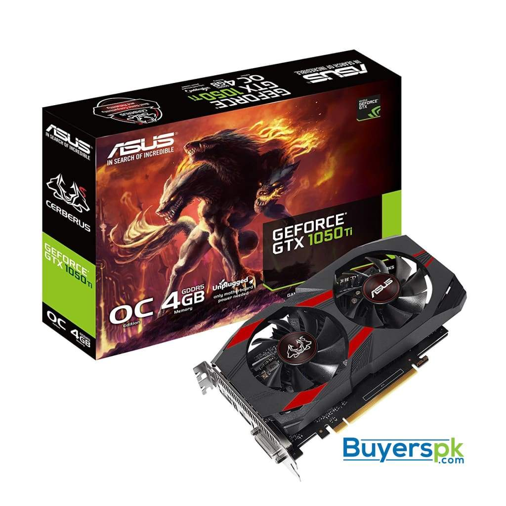 Asus Graphic Card Cereberus Gtx1050ti O4g Graphics Card