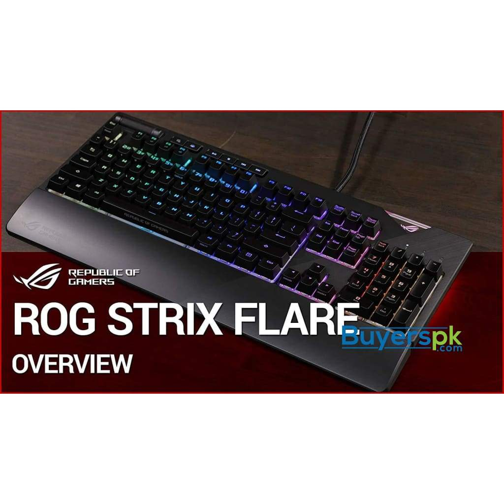 Asus Rog Strix Flare Cherry Mx Red Aura Sync Rgb Mechanical Gaming Keyboard With Switches Buyerspk Com