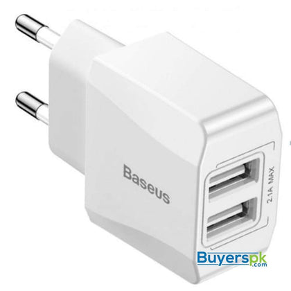 Baseus charger mini dual USB charger 2.1A ccall mn02 - charger