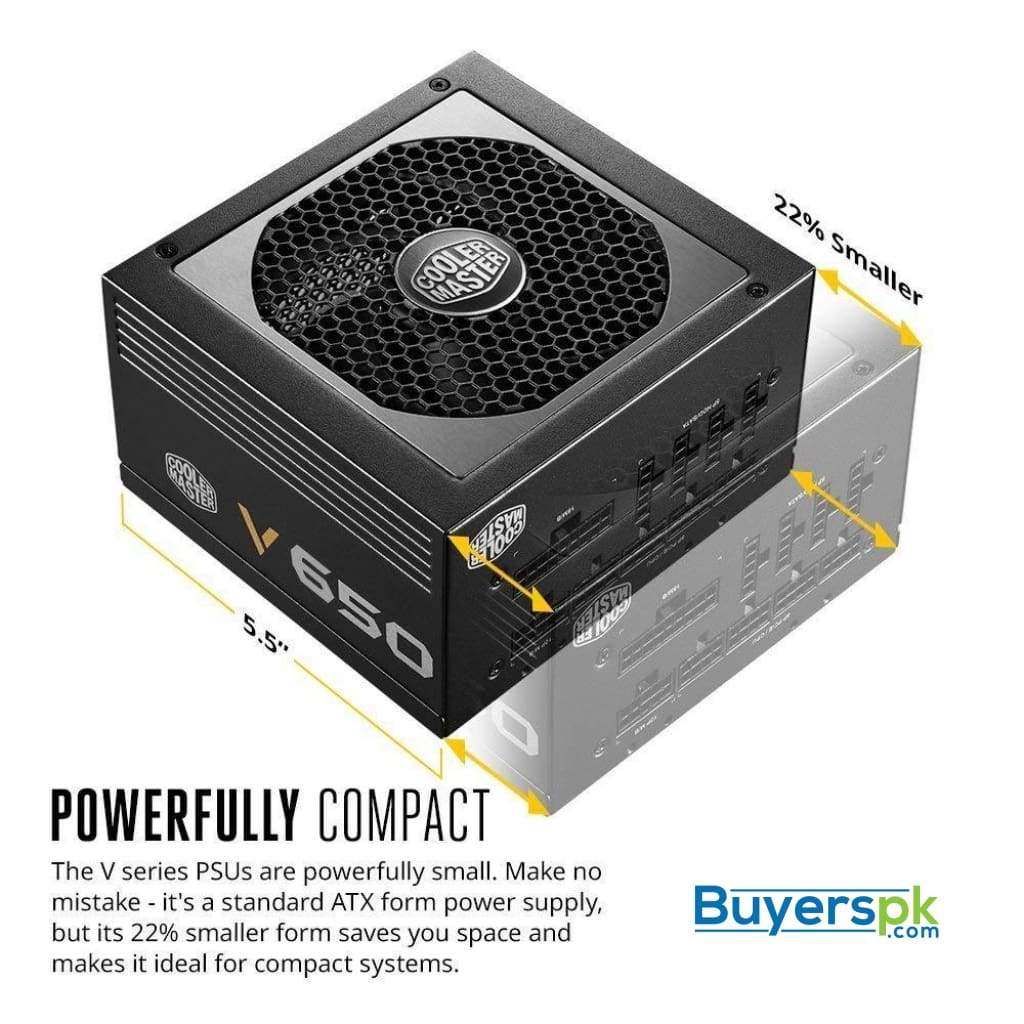 Cooler Master Powersupply Mwe Gold Fully-modular 650w A/uk