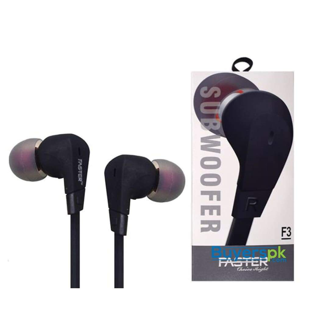 Faster F3 Subwoofer Bass Sound Earphones