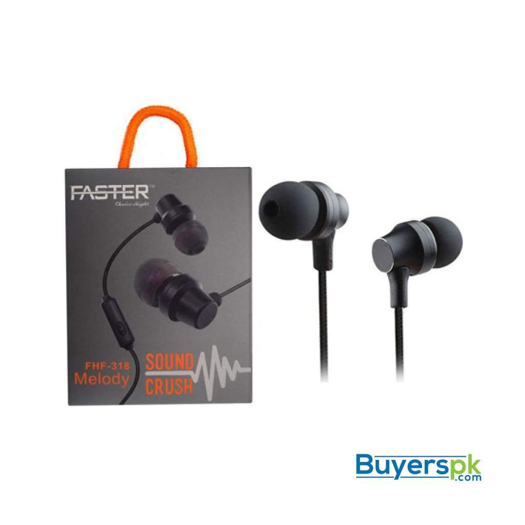 Faster Fhf-318 Melody Sound Crush Earphones Black