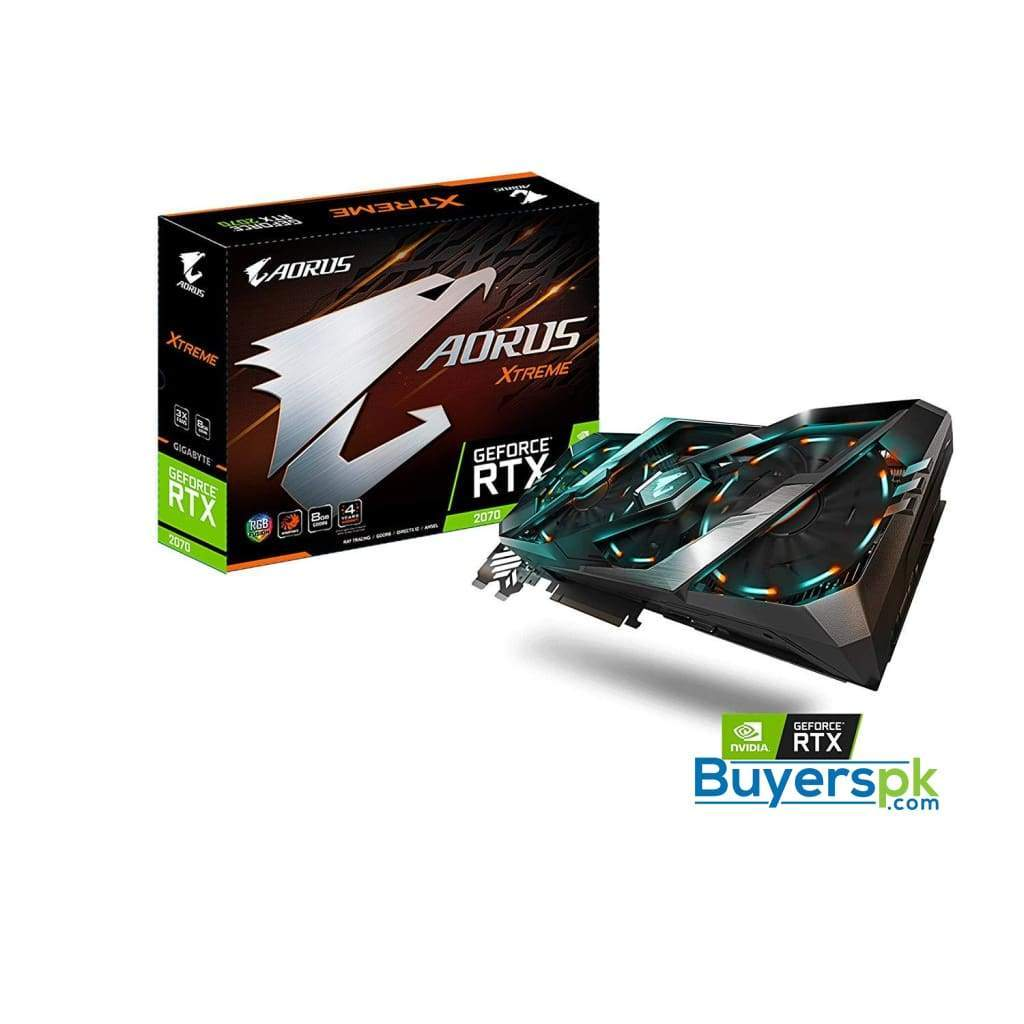 Gigabyte Aorus Geforce Rtx 2070 Xtreme 8g Graphics Card, 3x Stacked Windforce Fans, 8gb 256-bit