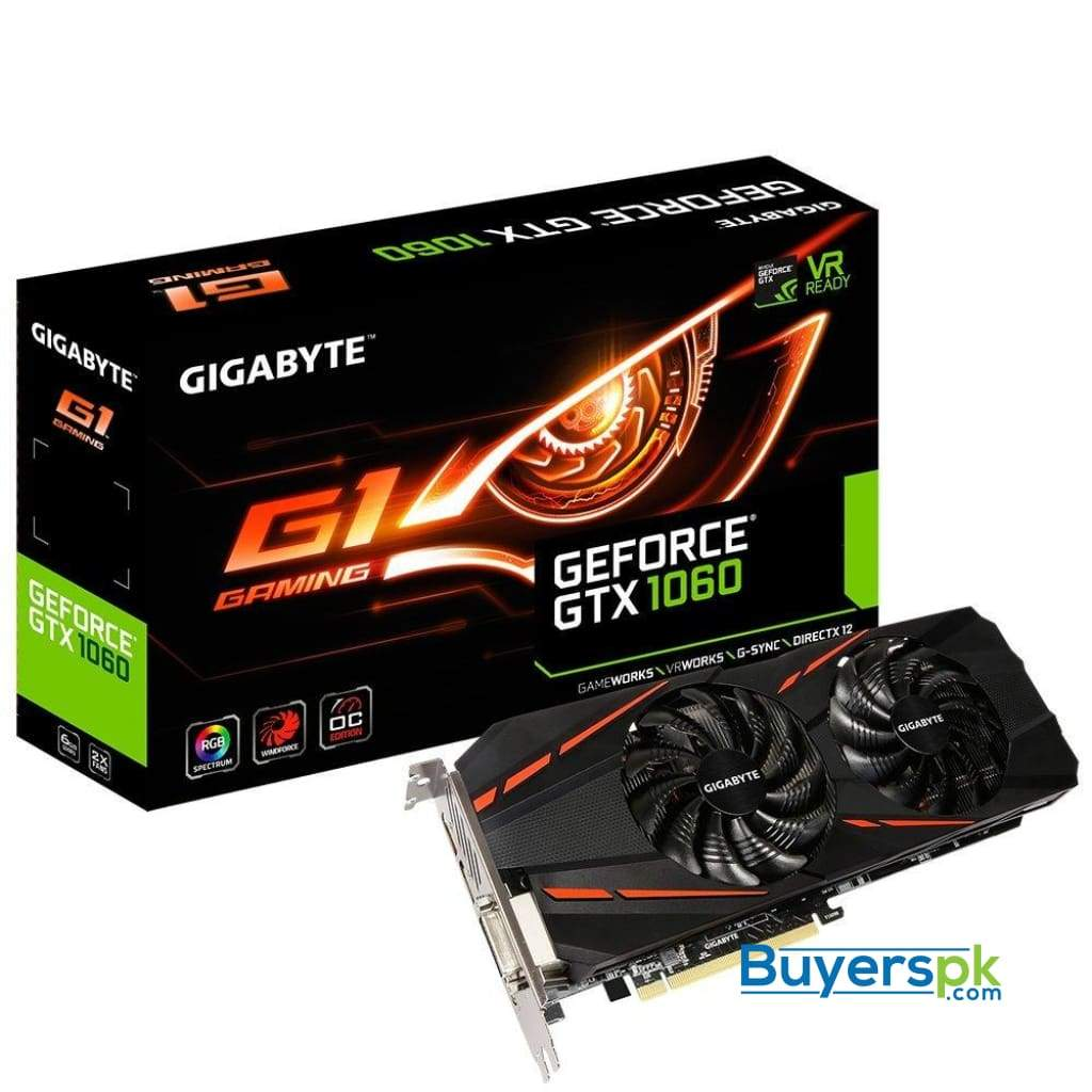 Gigabyte Geforce Gtx 1060 G1 Gaming Gv-n1060g1gaming-6gd Graphics Cards Graphic Cards