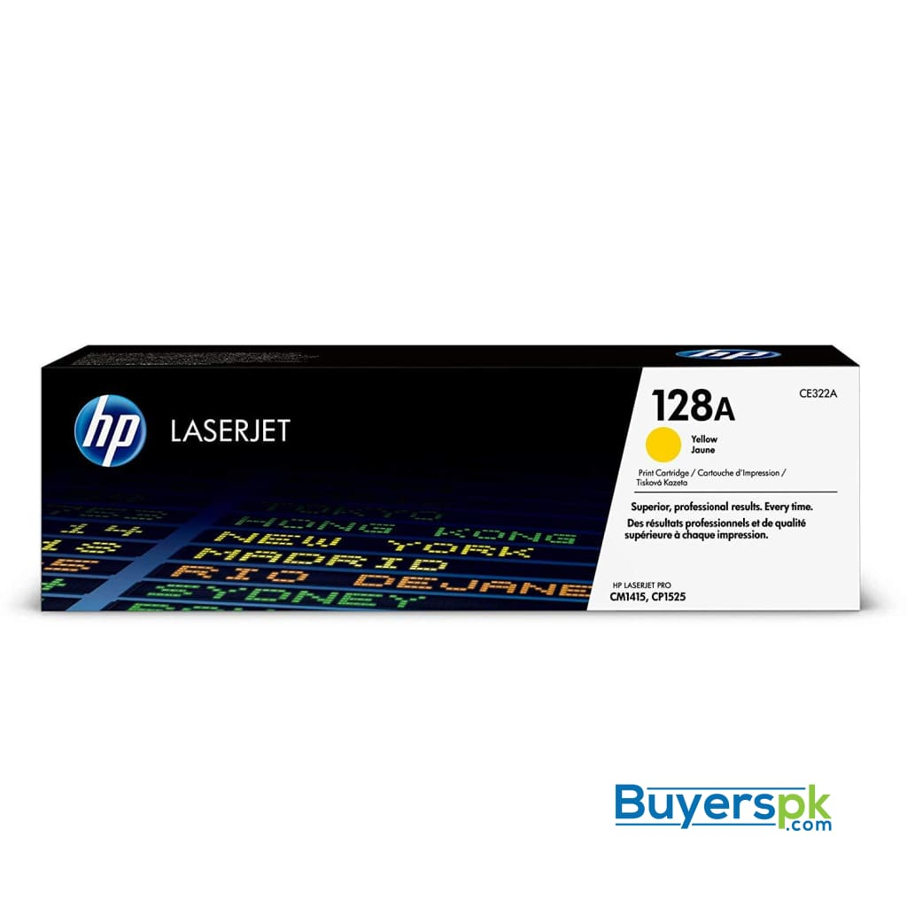 Hp 128a (ce322a) Yellow Original Laserjet Toner Cartridge