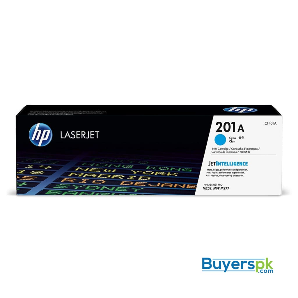 Hp 201a (cf401a) Toner Cartridge, Cyan for Hp Color Laserjet Pro M252dw M277 Mfp M277c6 M277dw Mfp