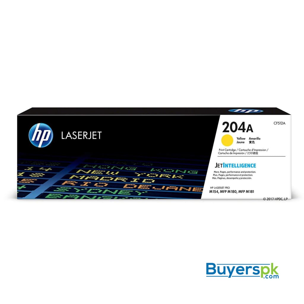 Hp 204a (cf512a) Yellow Original Toner Cartridge for Hp Laserjet Pro Mfp M180nw M154nw