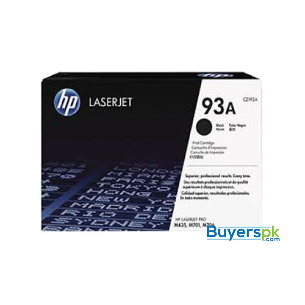 Hp 93a Black Original Laserjet Toner Cartridge Cz192a - Lj M706n/435nw