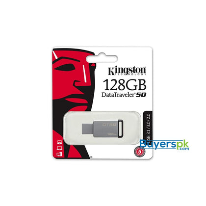 Kingston Digital 128GB USB 3.0 Data Traveler 50 110MB/s Read 15MB/s Write (DT50/128GB) - Storage Devices