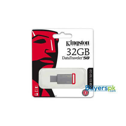 Kingston Digital 32GB USB 3.0 Data Traveler 50 110MB/s Read 15MB/s Write (DT50/32GB) - Storage Devices