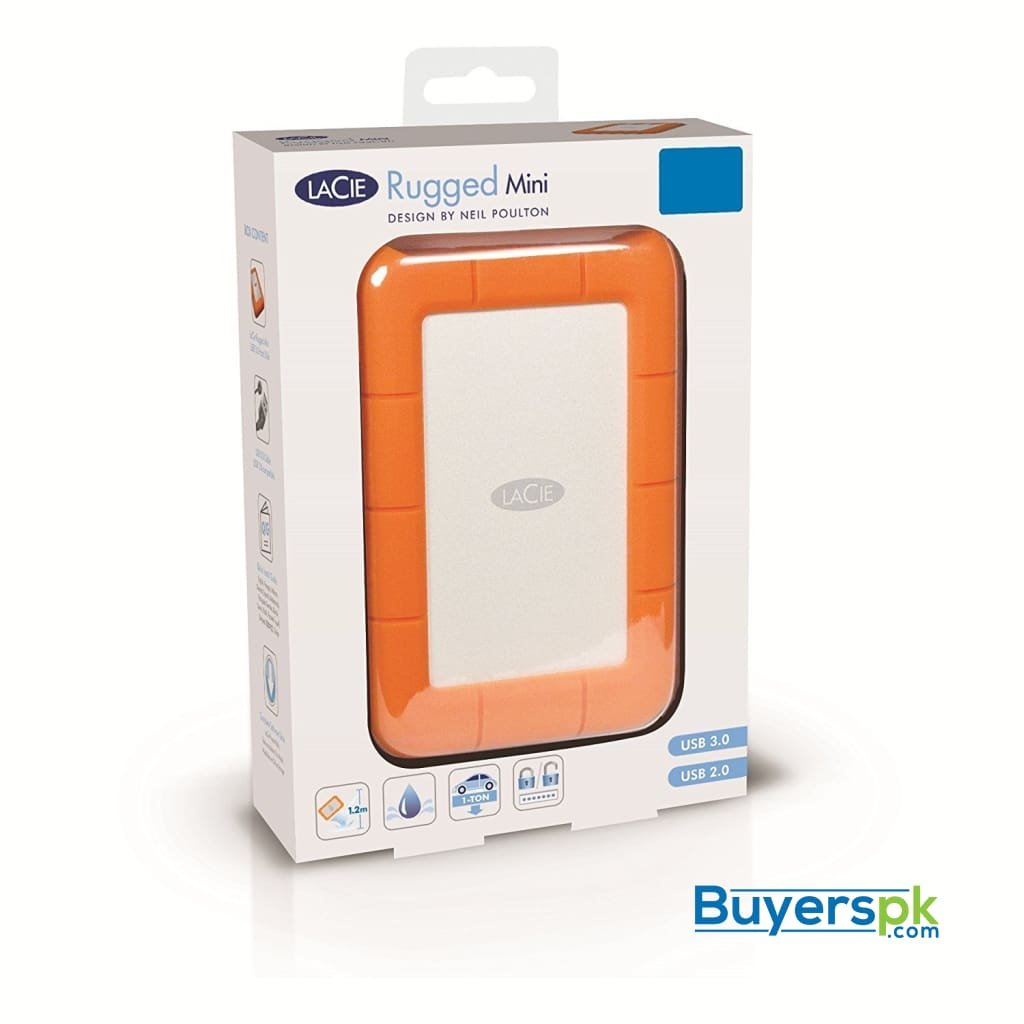 Lacie Rugged Mini 2tb Usb 3.0/usb 2.0 Portable Hard Drive (lac9000298) 2 Yrs Warranty