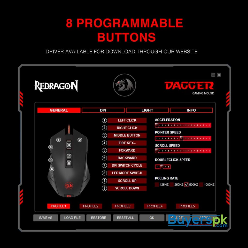 Redragon M715 Dagger Wired Gaming Mouse