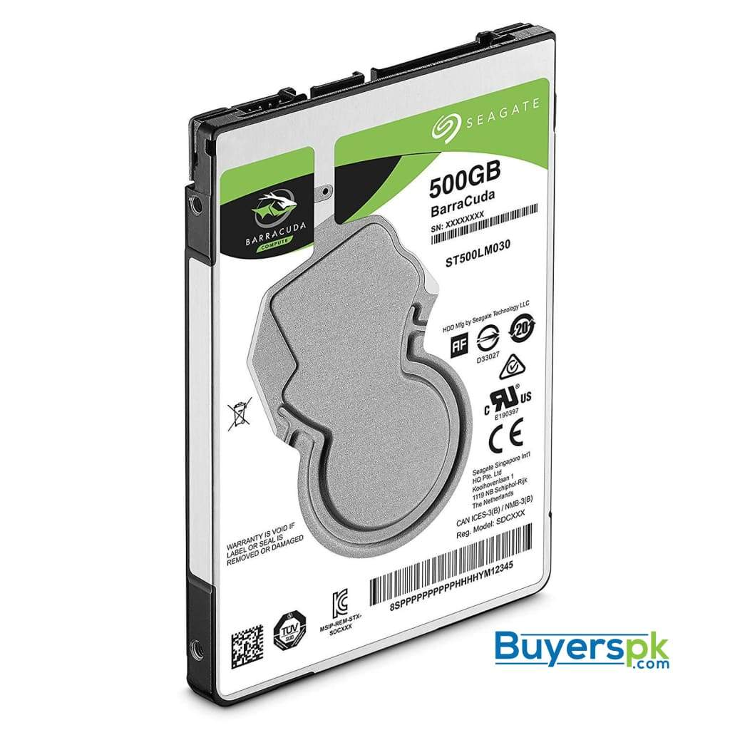 Seagate Barracuda Mobile Hard Drive 500gb Sata 6gb/s 128mb Cache 2.5-inch 7mm (st500lm030) 2 Yrs