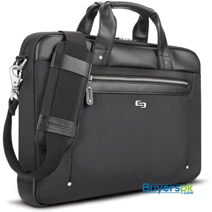 Solo Irving 15.6 Inch Laptop Briefcase Black - Bag Price in Pakistan