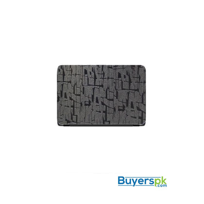 Universal Laptop Back Skin Scripture Texture - Black - Miscellaneous