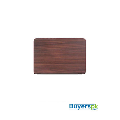 Universal Laptop Back Skin Wooden Texture - Brown - Miscellaneous
