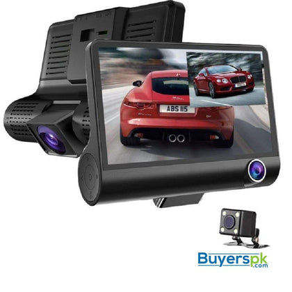 WDR Dashcam 3 Camera Lens Video Car DVR Full HD 1080P - Camera