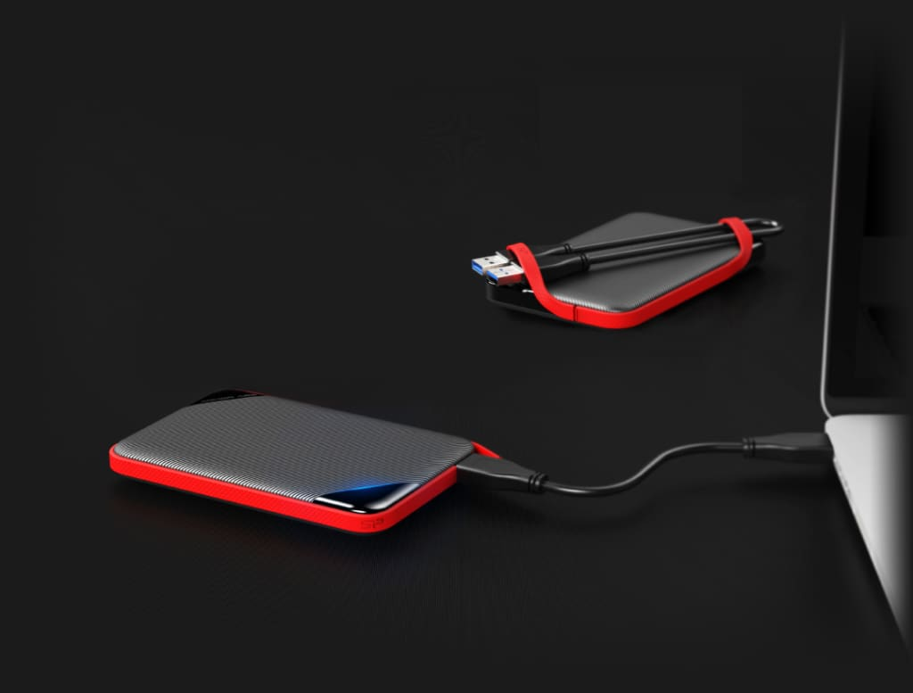 Armor A62<br><font color='#888888' size='2%'>(portable hard drive)</font> Innovative Cable-Carry Design